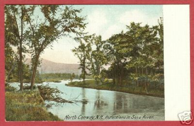 North Conway NH Saco River UDB Postcard BJs