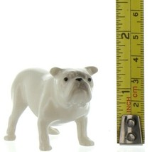 Hagen Renaker Dog Bulldog White Ceramic Figurine image 2
