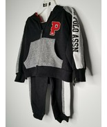 US POLO ASSN Boy's 2 Piece Jogging Set Size 3T Athletic Jacket Pants Set... - $15.99