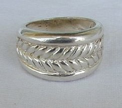 Rope silver ring - $25.00