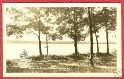 Otsego Lake MI Postcard Resort RPPC 1930 Michigan BJs