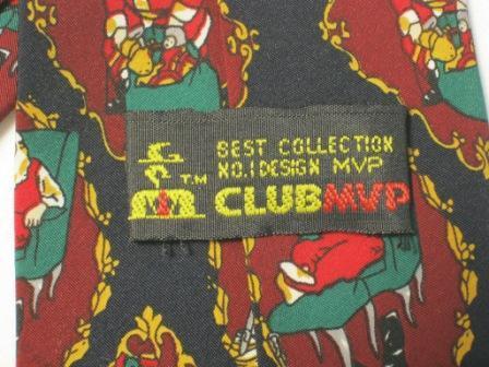 VINTAGE SANTA CLUB VIP HOLIDAY NECK TIE