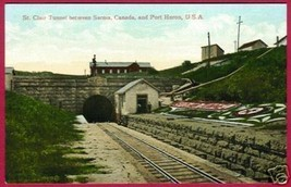 ST CLAIR TUNNEL Sarnia Ontario Pt Huron Michigan MI - $8.00