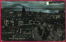 DETROIT MICHIGAN Nice Moonlight City View 1909 - $6.00