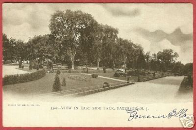 Paterson NJ East Side Park New Jersey UDB Postcard BJs