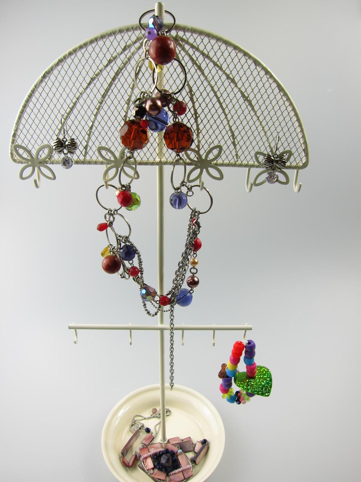 Jewellery Stand Designs : Jewelry stand earrings necklace ring ornament holder