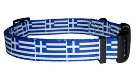 Medium Greek Flag Dog Collar - $12.00
