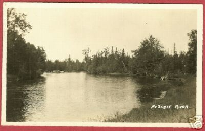 AuSable River Mio MI 1927 RPPC Postcard BJs