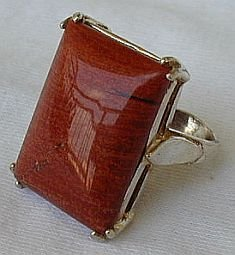 Brown red agate a