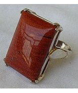 Brown-red agate silver ring - $30.00