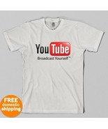 YouTube Broadcast Yourself T-shirt Google video... - $14.55
