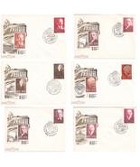 Soviet Union Set of 6 FDC 100 Years Since The Birth Of Lenin 1970  - $111,82 MXN