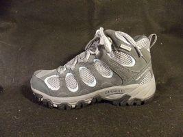 Women's Merrell Hilltop Vent Waterproof Castle Rock Gray Hiking Shoes Size 6 image 4