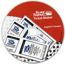 sure thing Ticket Maker Cd-rom - $2.00