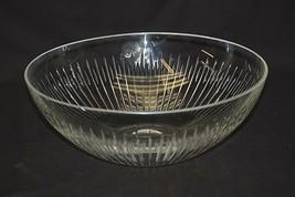 "Old Vintage Atlantis Crystal Clear Glass 11-1/4"" Serving Bowl Table Centerpiece - $49.49"