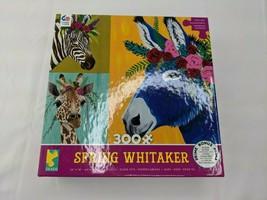 Ceaco Spring Whitaker 300 Pc Jigsaw Puzzle Zebra Giraffe Donkey 2019 - $13.45