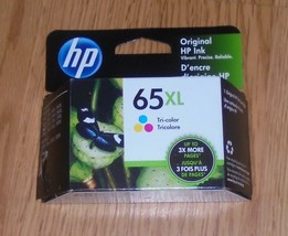 Genuine HP 65XL (N9K03AN) Tri Color Ink Cartridge 2022 NEW 65 XL - $30.84