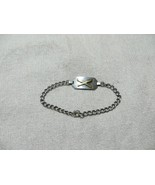 Antg. Victorian/Edwardian Sterling Tag Chain Bracelet w/Gold Cross Rifle... - $36.99