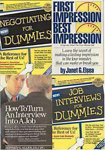 4)DUMMIES:JOB INTERVIEWS/NEGOTIATING;FIRST IMPRESSION;J