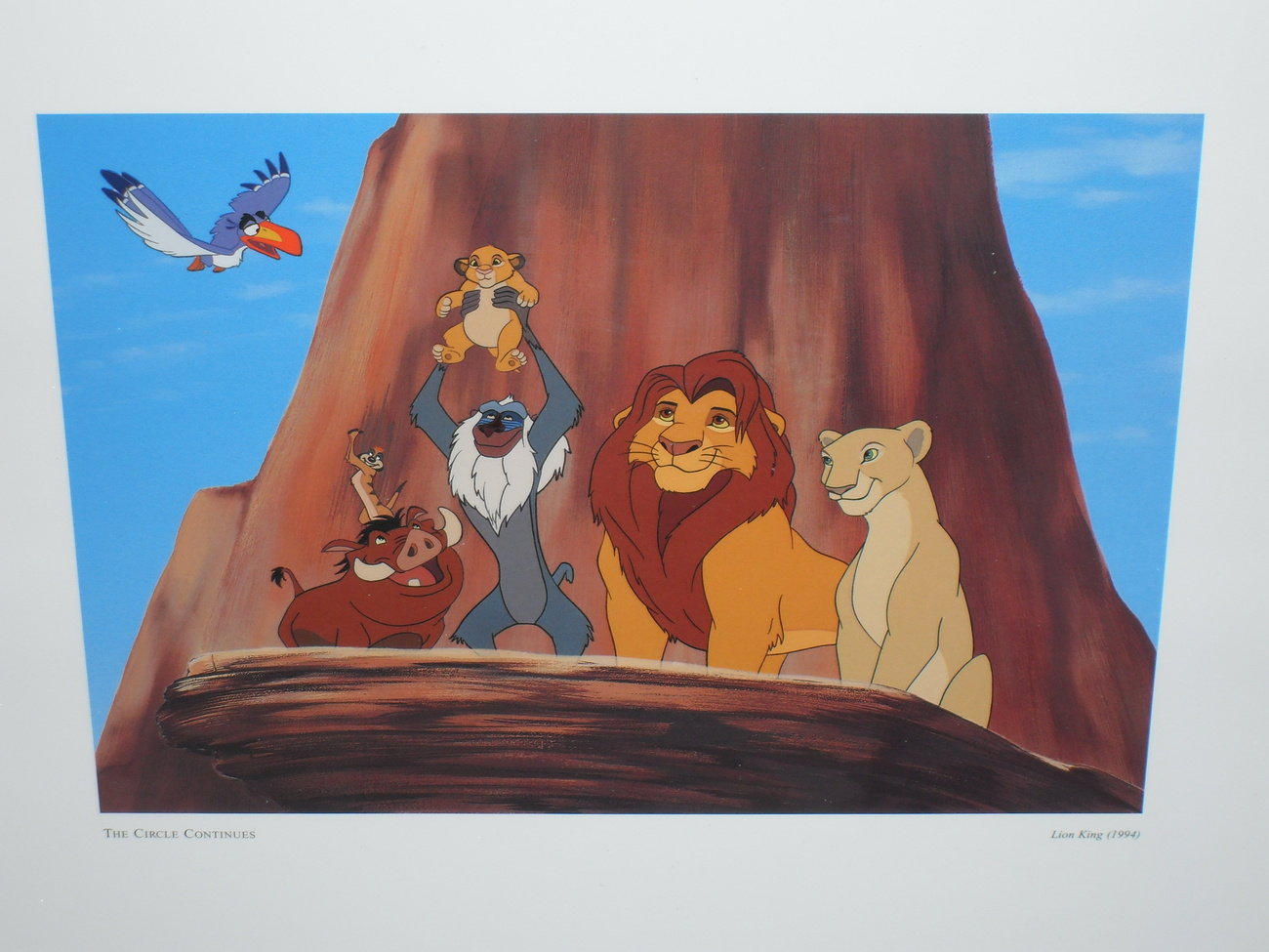 1994 Disney Lion King The Circle Continues Framed Picture