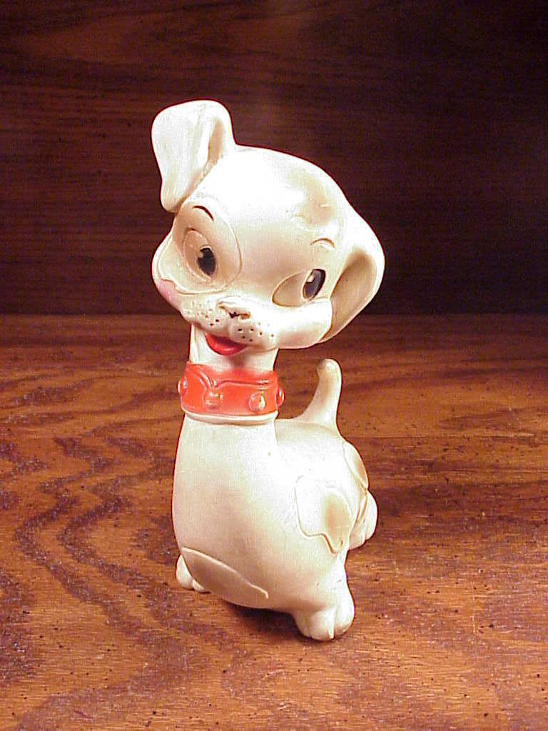 Fake Toy Dogs : Vintage edward mobley plastic dog toy arrow rubber