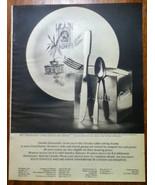 Vintage Ad Oneida Silversmiths 1965 Paul Revere Community Stainless - $5.00