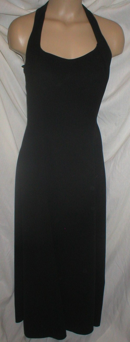 Rampage black long sleeveless halter dress M Medium