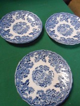 """Blue Willow """"The Georgian Collection"""" Churchill England ....3 Saucers - $5.95"""