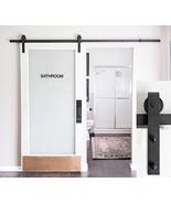 6-Foot 7-Inch Heavy Duty Sliding Barn Door Hardware Kit Black Includes E... - $60.08
