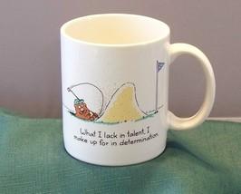 Golfing Bear 12 Oz Coffee Mug Shoebox Greetings  VGC 1987 - $8.00