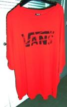 Van's Red Crew Neck Short-Sleeve T-Shirt Casual Fun Comfort Shirt - Size... - $21.37