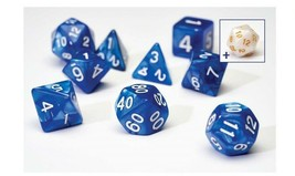 SIRIUS TRANSLUCENT BLUE W WHITE RESIN 7 DIE SET with free D20 + tube SDZ... - $13.72