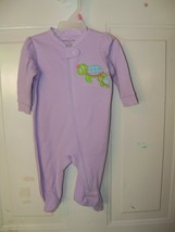 Faded Glory Purple Turtle Footed Sleeper Size 0/3 Months Girl's NEW LAST... - $14.58