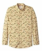 Goodthreads Men's Slim-Fit Long-Sleeve Printed Poplin Shirt,Brown Duck Print NEW image 1