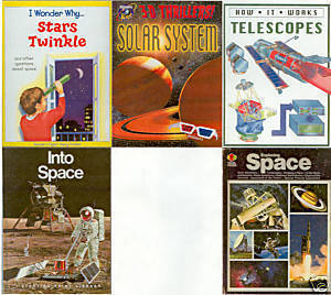 (5) STARS;TELESCOPES;SOLAR SYSTEM;INTO/ EXPLORING SPACE