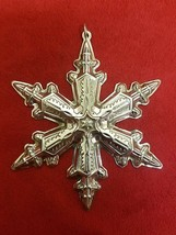 1996 Gorham Snowflake Sterling Silver Christmas Ornament In Box - $53.10