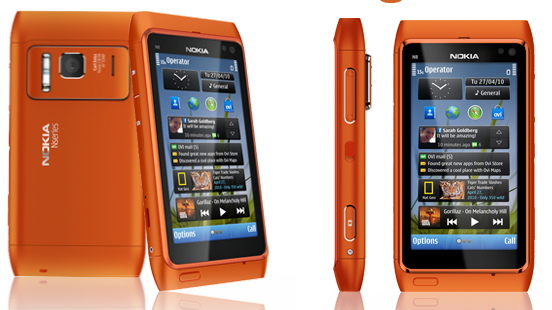 nokia n8 orange cell phone 12mp hd camera smartphone ...