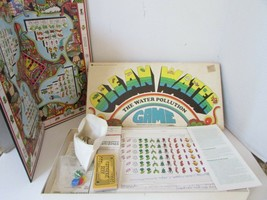 VTG 1972 URBAN SYSTEMS CLEAN WATER POLLUTION BOARD GAME ALMOST COMPLETE - $32.29