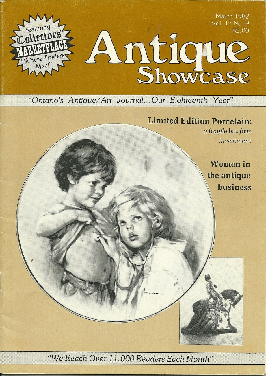 Antique Showcase Magazine March 1982 Volume 17 Number 9 Back Issue
