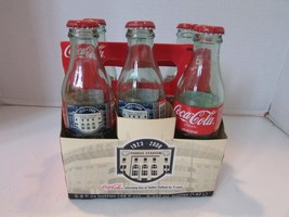 NY YANKEE STADIUM 75 ANNIV 6 GLASS COCA COLA BOTTLES CARRY CASE METAL CA... - $11.95