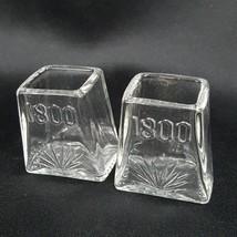 Set of 2 Jose Cuervo 1800 Tequila Pyramid Triangle Clear Shot Glass Bar ... - €13,13 EUR