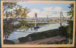 Tichnor Bros, White Border, Linen Postcard, Gray and Menands - $7.00