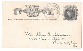 Sc UX5 St Joseph MO 1881 Fancy Cork Cancel Oval Donut Postal Stationery Card  - $4.99