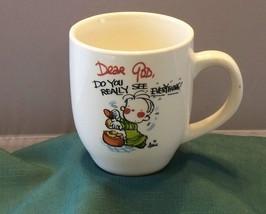Dear God Do You Really See Everything 16 Oz Coffee Mug VGC - $7.50