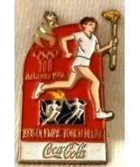 Lapel Cap Hat Pin Coca Cola 1996 Olympics Atlanta Torch Relay - $15.46