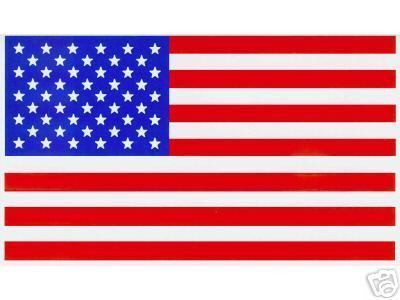 "TWO AMERICAN FLAG Highest Quality Vinyl Decals - A PAIR - 2 1/4"" x 4"""