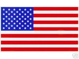 """TWO AMERICAN FLAG Highest Quality Vinyl Decals - A PAIR - 2 1/4"""" x 4"""" - $4.21"""