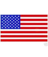 "TWO AMERICAN FLAG Highest Quality Vinyl Decals - A PAIR - 2 1/4"" x 4"" - $4.21"