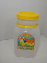 Vintage Fisher Price toddler kitchen 1008 milk bottle only yellow lid co... - $5.93