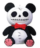 Furrybones Panda Bear Pandie Wearing Red Bow Tie Small Plush Doll - $11.97
